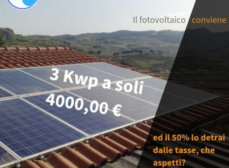 Ecco perchè il fotovoltaico conviene!