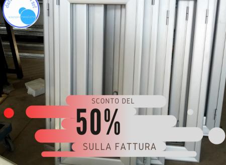 sconto in fattura del 50%